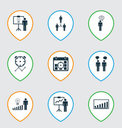 Set of 9 administration icons includes solution vector