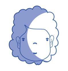 Silhouette woman face with hairstyle and vector
