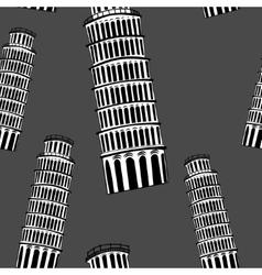 Sketch Pisa tower seamless pattern vector image