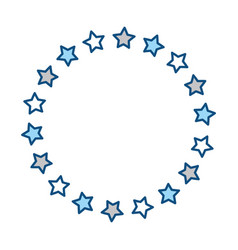 stars round ornament vector image