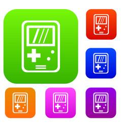 Tetris set collection vector