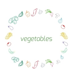 Vegetables text background vector image vector image