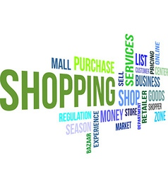 Word cloud shopping vector