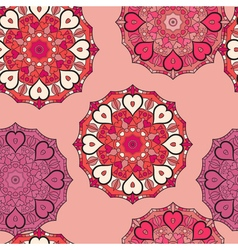 Seamless pattern in eastern style print with vector