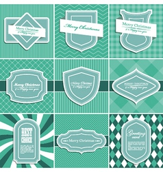 Set of christmas vintage backgrounds vector