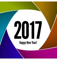 Happy New Year 2017 on a background of the camera vector image