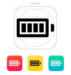 Full charge battery icon vector