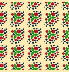 raspberry seamless pattern fresh berry red ripe vector image
