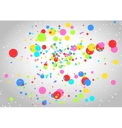 Light background with colorful circles vector
