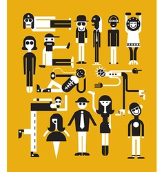 people vector image