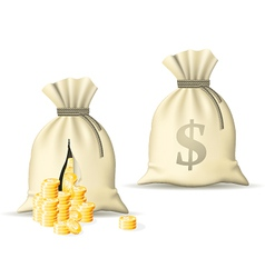 Sack with money vector
