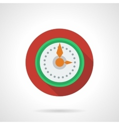 New year clock round color icon vector