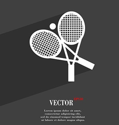 Tennis symbol flat modern web design with long vector