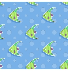 Seamless sea pattern with smiling vector