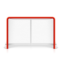 Ice hockey net vector image