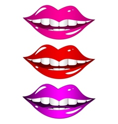 Mouth laughs set vector