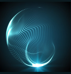 abstract destroyed mesh spheres vector image vector image