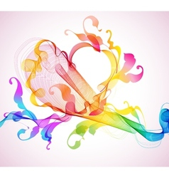 abstract heart wave vector image