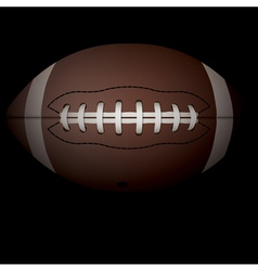 American Football on Black vector image