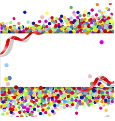 Banner with confetti vector