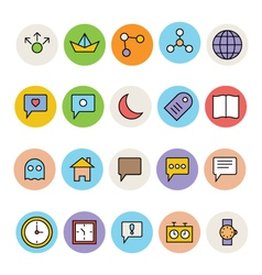 Basic colored icons 1 vector