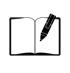 blank notepad icon image vector image