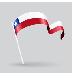Chilean wavy flag vector