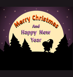 Christmas and new year background card purple vector