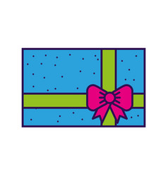 cute colofull gift cartoon vector image vector image