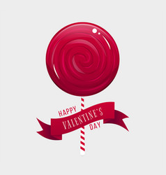 cute valentines day card vector image vector image
