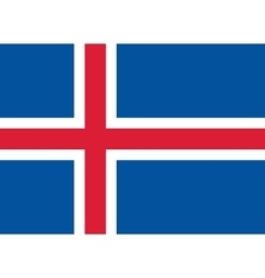 Flag of iceland in correct proportions and colors vector