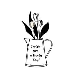 flowers in pot vector image vector image