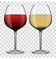 glass with wine vector image vector image