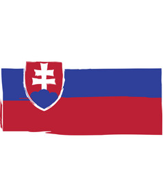 grunge slovakia flag or banner vector image vector image
