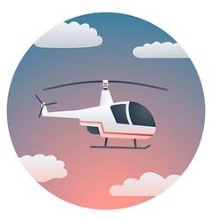 Helicopter detailed vector