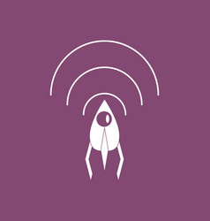 Icon satellite and radio waves vector