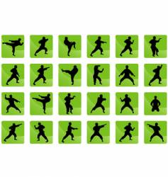 icons of karate vector image vector image