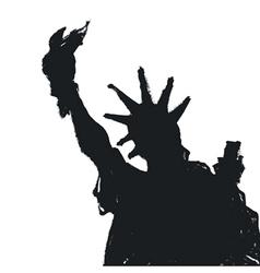 Liberty statue silhouette vector