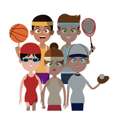 People and sports design vector