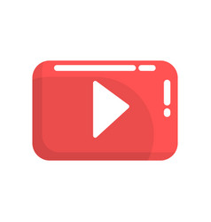 Red video play button internet or youtube button vector