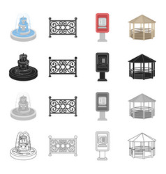 Roof protection park and other web icon in vector