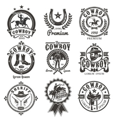 Set of rodeo logos vector