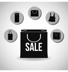 Shopping design Shopping bag icon sale concept vector image vector image