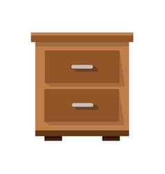 Side table furniture home vector
