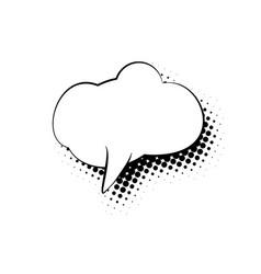 Speech bubble isolated vector