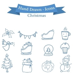 Stock christmas icons set collection vector