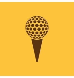 The golf ball icon Game symbol Flat vector image