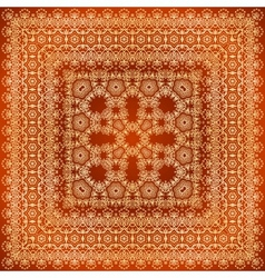 Vintage brown lacy ornate shawl pattern vector image