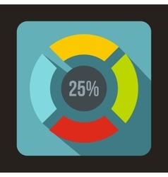 Web preloader 25 percent icon flat style vector
