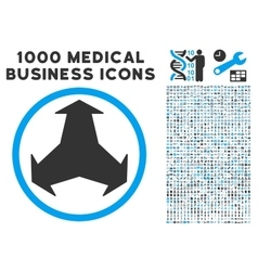 Directions icon with 1000 medical business vector
